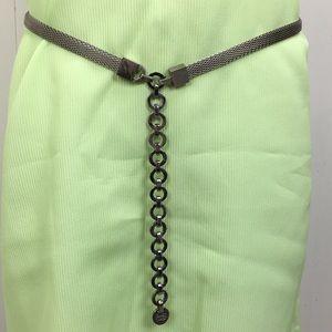 Ellen Tracy Silver Tone Mesh Belt